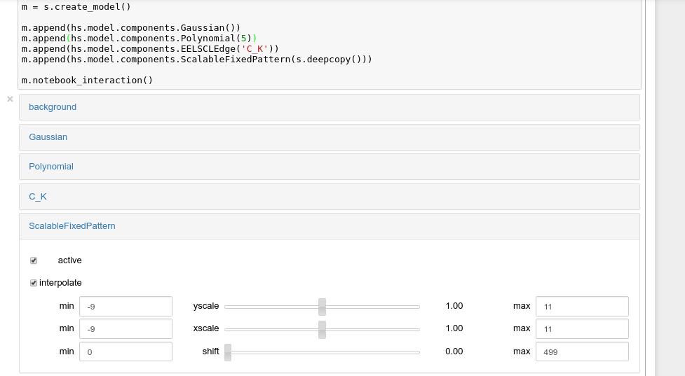 Model fitting — HyperSpy 1 5 2 documentation
